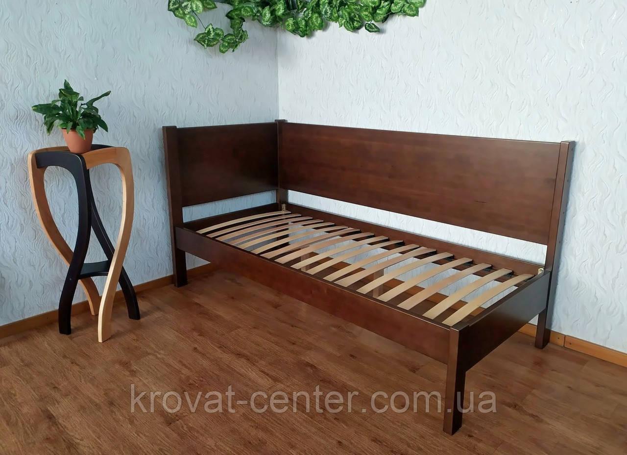 """Односпальная кровать из массива натурального дерева """"Шанталь Премиум"""" от производителя"""