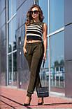 Вязаные брюки с лампасом, фото 3