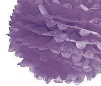 Бумажный помпон для украшения свадебного зала лаванд