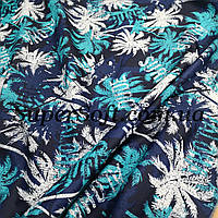 Ткань плащевка канада принт пальмы