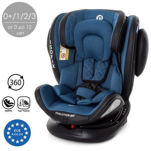 Автокресло детское ME 1045 EVOLUTION 360º NAVY BLUE синий