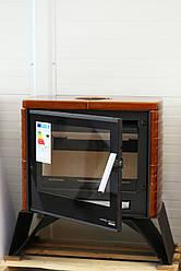 Кафельная печь камин на дровах HAAS+SOHN Skive-C медовая, каминофен