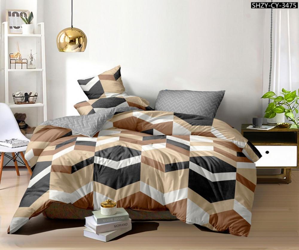Постельное белье Шерше сатин ТМ Комфорт-Текстиль (Евро)