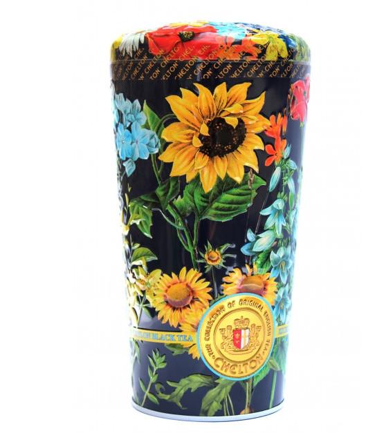 Чай Челтон Ваза Полевые цветы с кусочками фруктов и лепестками цветов черный листовой 100 г в жестяной банке