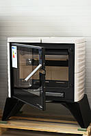 Кафельная печь камин на дровах Haas+Sohn Skive-C Слоновая кость.