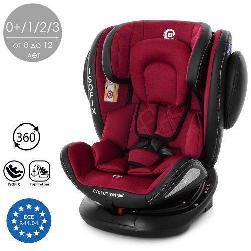Автокресло детское ME 1045 EVOLUTION 360º DEEP RED красный