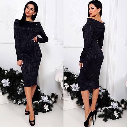 """Изысканное женское платье ткань """"Люрекстрикотаж"""" 42 размер норма, фото 2"""