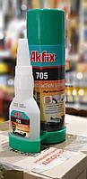 Akfix 705 – двухкомпонентный супер-клей с активатором 200 мл/50 гр.