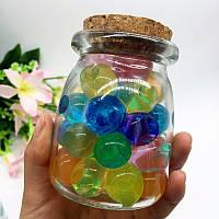 Гидрогелевые шарики Орбиз, размер 3-4 cм, цвет микс, 50 штук, растут в воде