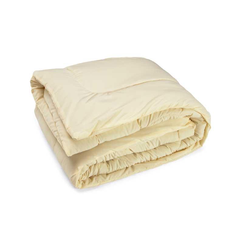 Одеяло шерстяное Руно Комфорт плюс молочное демисезонное 200х220 евро