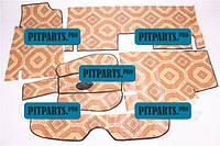 Коврик пола 2101, 2102, 2103, 2104, 2105, 2106, 2107 линолеум комплект 5 шт (ковер салона)