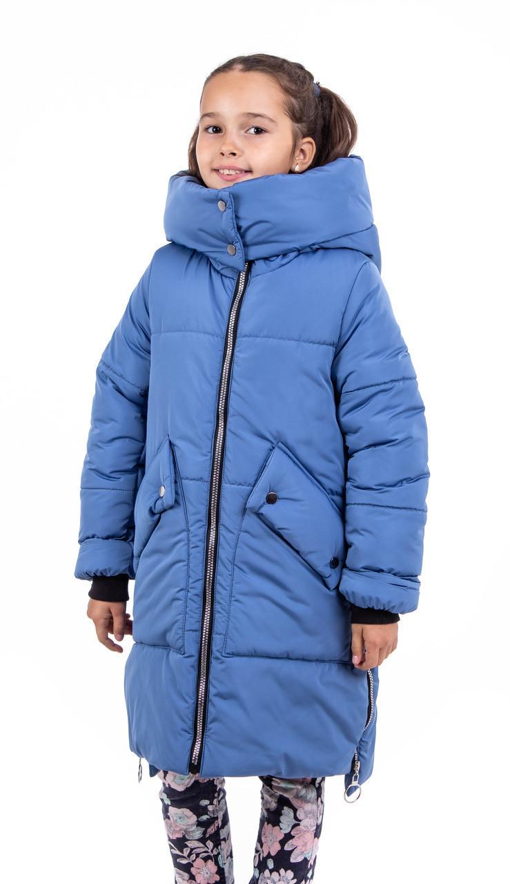 Зимовий пуховик для дівчаток від виробника 34-40 джинс