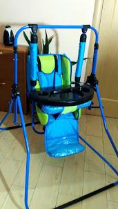Підлогова гойдалка - стільчик Rainbow Al-len зі столиком (кольори в асортименті)