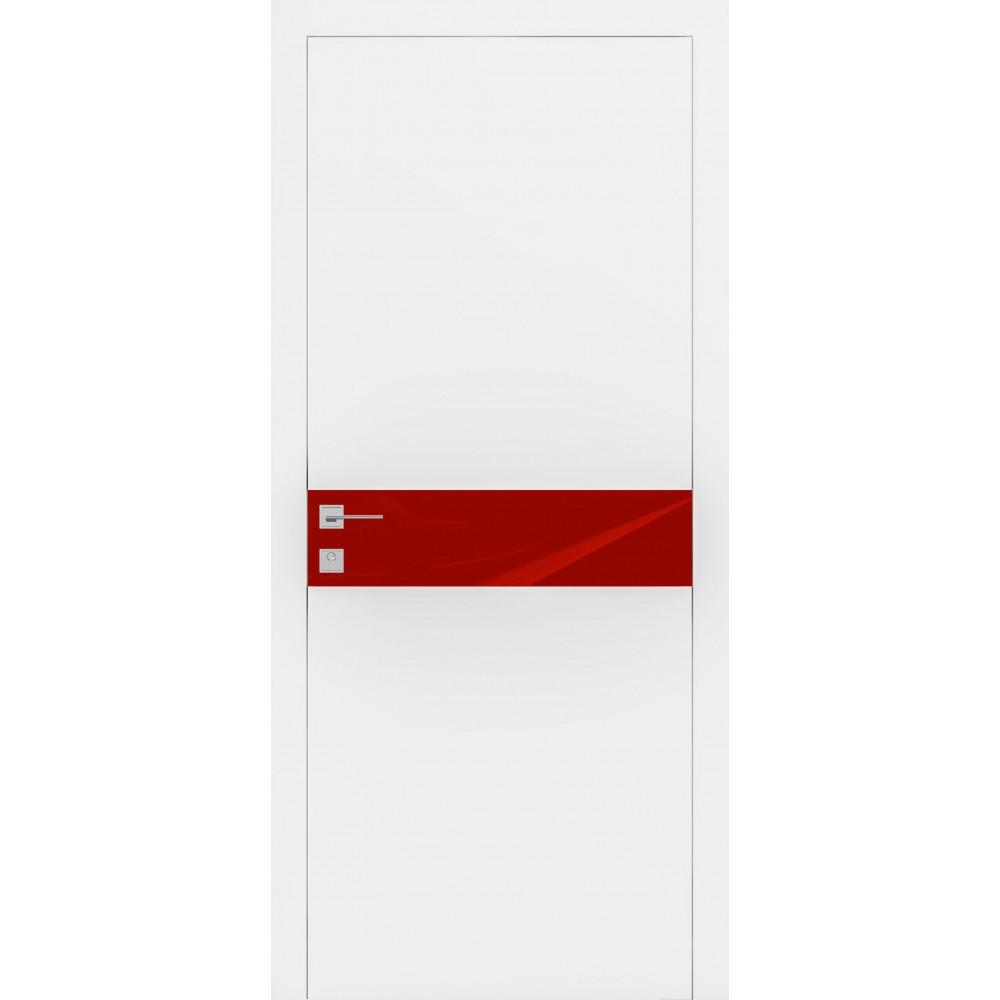 Двери Родос Loft Berta G белый мат полустекло