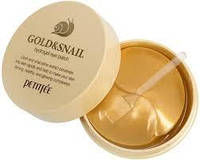 Патчи под глаза со слизью улитки и золотом Petitfee Gold & Snail Hydrogel Eye Patch, Корея, 60 шт