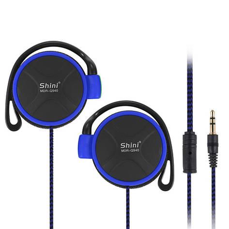 """Спортивные наушники """"Shini Q940"""" для телефона, смартфона, mp3 3.5 мм (синий), фото 2"""
