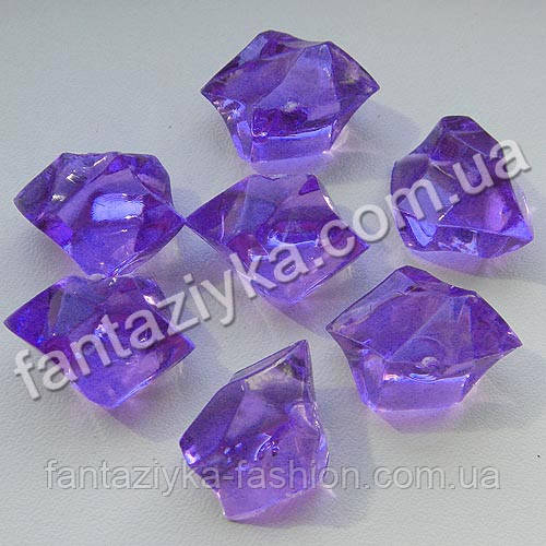 Искусственный лед крупный 30мм фиолетовый