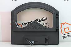 Дверцы для камина 550х500 «ALAN» Чугунные дверцы для печи кухни барбекю, фото 2