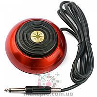 Педаль для работы с Блоком Питания (разъем 6.35 mm) круглая красная