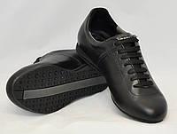 Кроссовки ICEBERG кожаные подростковые молодежные 39 Черный