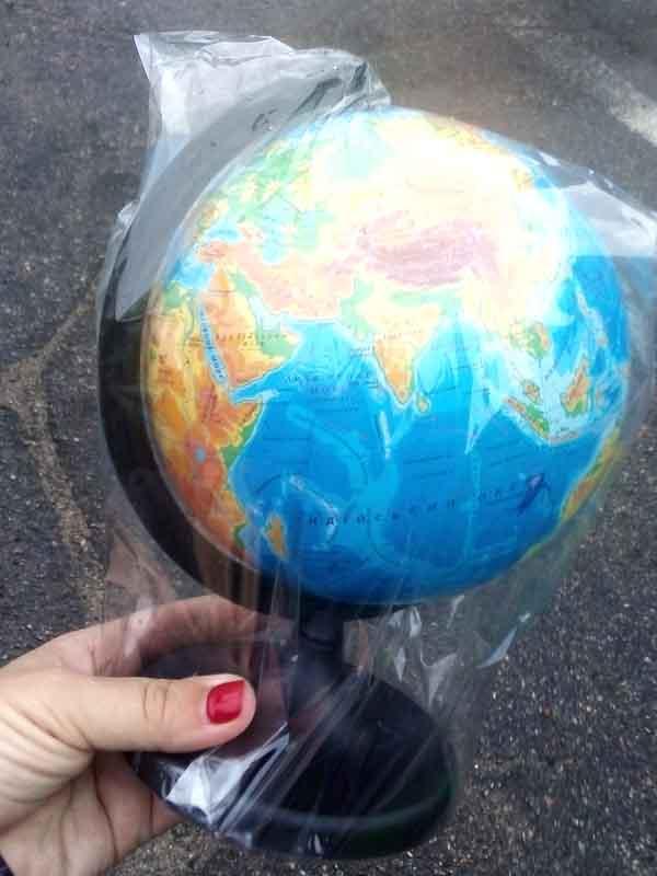 Глобус физический (географический) 16см
