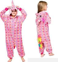 Кигуруми Единорог розовый звездный для детей