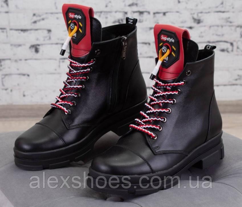 Ботинки молодежные на низком ходу из натуральной кожи от производителя модель БС7060