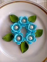"""Набір """"Яблуневий цвіт"""" блакитний"""