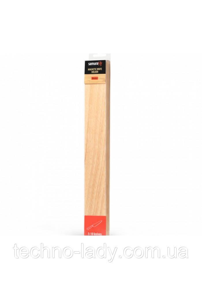 Держатель магнитный для кухонных ножей, деревянный, светлый, Samura (SMH-04L)