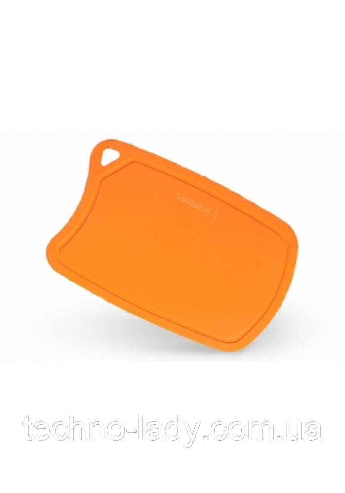 """Доска разделочная термопластиковая с антибактериальным покрытием, Samura """"Fusion"""", оранжевая (SF-02OR)"""