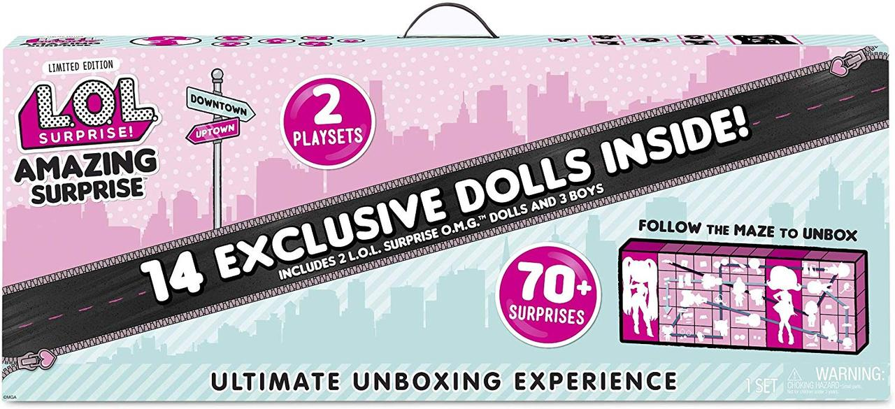 Набор ЛОЛ Удивительный сюрприз с 14 куклами L.O.L. Surprise! Amazing Surprise 14 Dolls 70+ Surprises