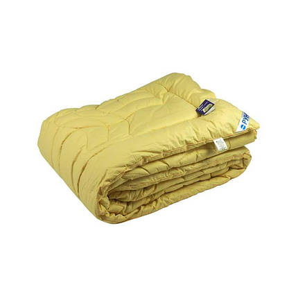 Одеяло шерстяное Руно Элит бежевое зимнее 172х205 двуспальное, фото 2