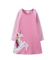 Платье с длинным рукавом для девочки на 1,5-6 лет