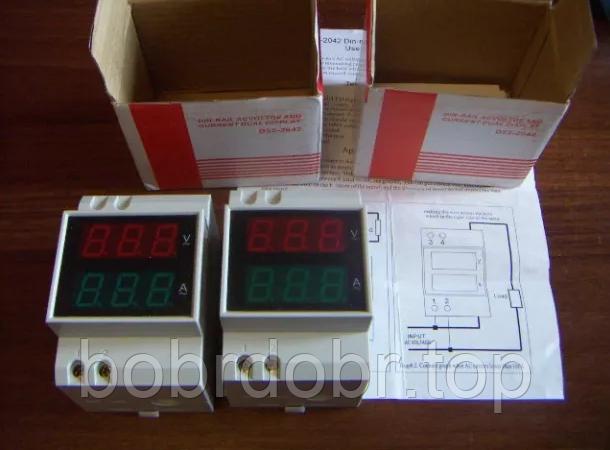 Вольтамперметр | Амперметр | Вольтметр | DIN-рейка