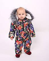 Детский зимний комбинезон Комбинезон зимний, лилия, фото 3