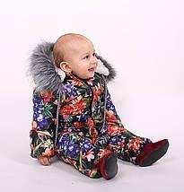 Детский зимний комбинезон Комбинезон зимний, лилия, фото 2