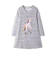 Детское платье с длинным рукавом 2, 3, 5, 7 лет