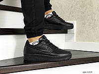 Кроссовки мужские черные Nike Air Force, мужские осенние кроссовки черные (Реплика)