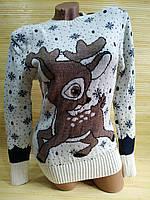 Різдвяний светр з оленем, фото 1