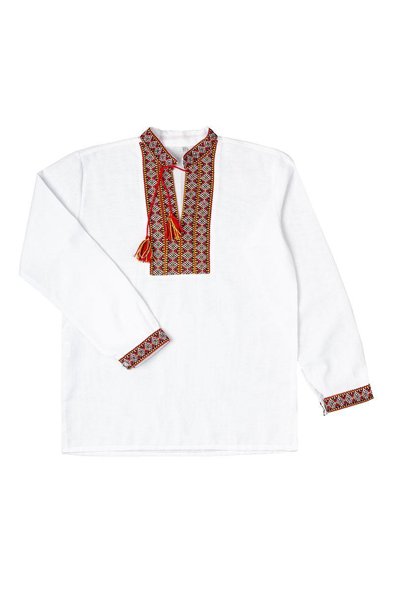 """Рубашка """"Вышиванка"""" для мальчика (красный)"""