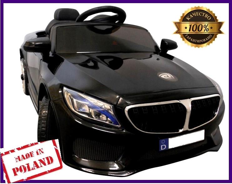 """Электромобиль детский  BMW M5 Машинка на аккумуляторе + ПУЛЬТ """" Черная 1-6 лет"""