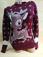 Різдвяний светр з оленем красивим, фото 1