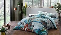 Комплект постельного белья tac ion teraphy natural mavi евро голубой #S/H
