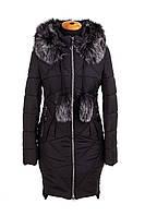 Женская зимняя куртка парка молодежная 42-52 черный