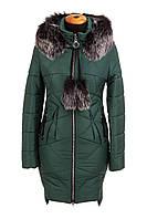 Зимние женские куртки молодежные  42-52 зеленый