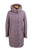 Пальто зимние женские больших размеров 52-60 темная пудра