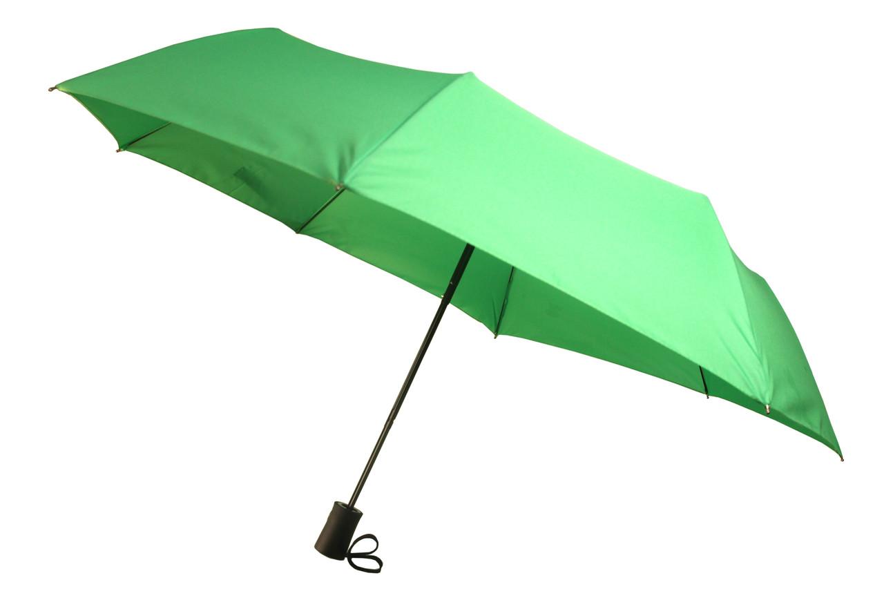 Зонт женский салатового цвета, полуавтомат, 8 карбоновых спиц (12136)