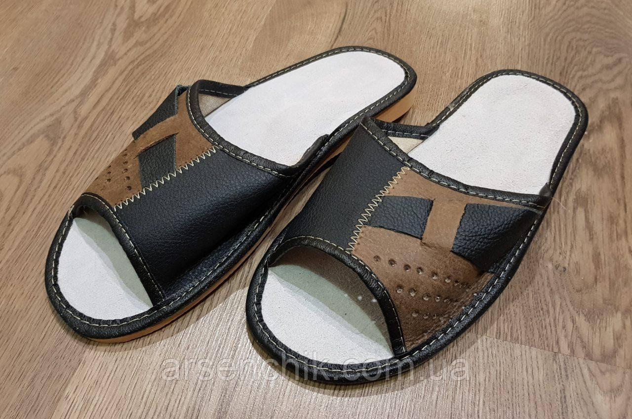 """Домашние кожаные мужские тапочки """"Polmar"""" 46"""