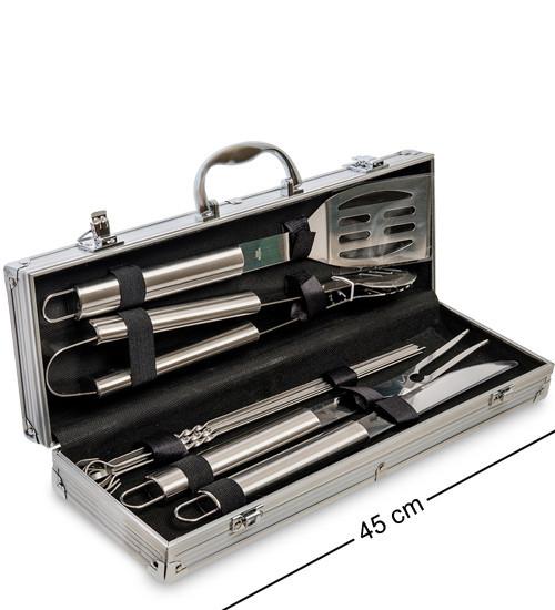 Набор для барбекю Lefard из 8 предметов 165497 приборы инструменты для барбекю в кейсе