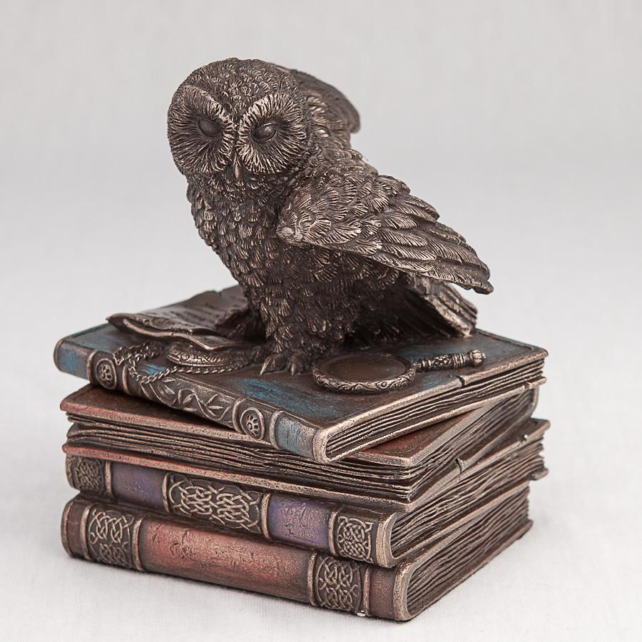 Шкатулка Veronese Сова на книгах 12 см 75511 веронезе статуэтка-шкатулка с книгами